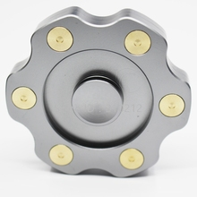 Revolver Fidget Finger Hand Spinner Aluminium Alloy with Copper Focus EDC Toy R188 Bearing for Couple Gift Above 5″ Spin Time