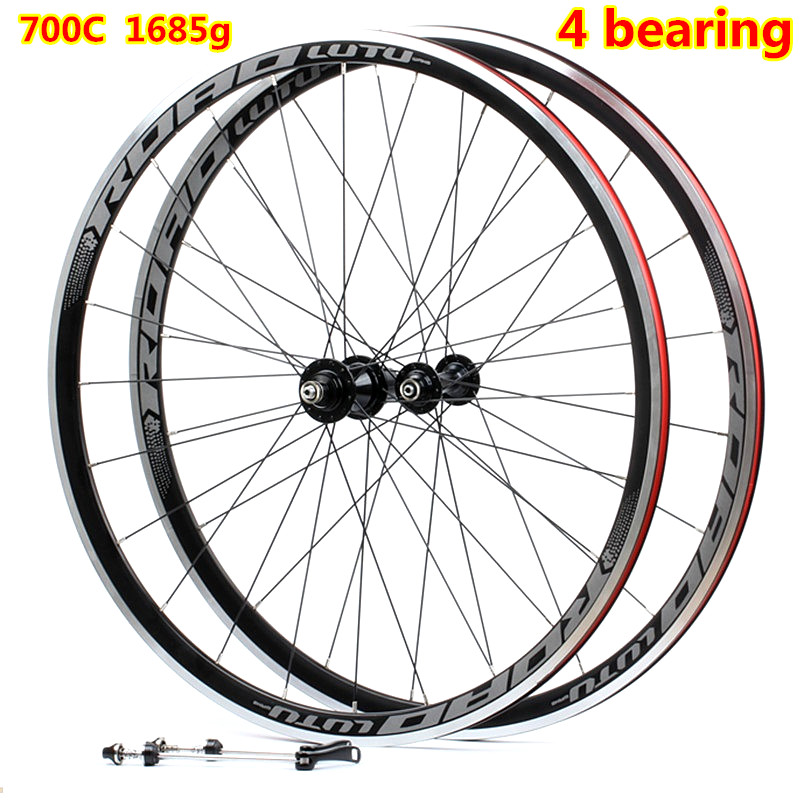 High Quality HOT sale 700C Alloy V Brake <font><b>Wheels</b></font> <font><b>bmx</b></font> Road Bicycle <font><b>Wheel</b></font> Aluminium Road Wheelset Bicycle <font><b>Wheels</b></font> image