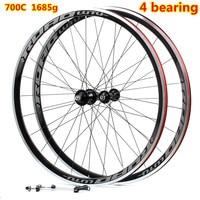 High Quality HOT sale 700C Alloy V Brake Wheels bmx Road Bicycle Wheel Aluminium Road Wheelset Bicycle Wheels