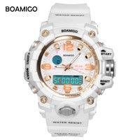 BOAMIGO Brand Watches Women Sports Watches Fashion Ladies Quartz Wrist Watches White Swim Digital Shock Clock