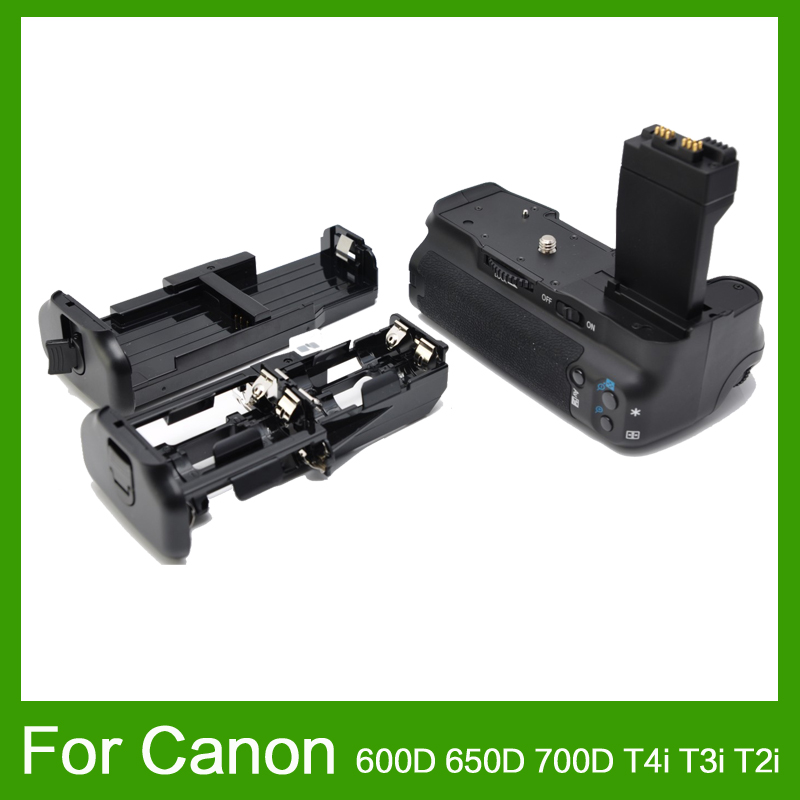 Вертикальный Батарейная ручка Пакет для цифровой однообъективной зеркальной камеры Canon EOS 550D 600D 650D 700D T4i T3i T2i как BG E8