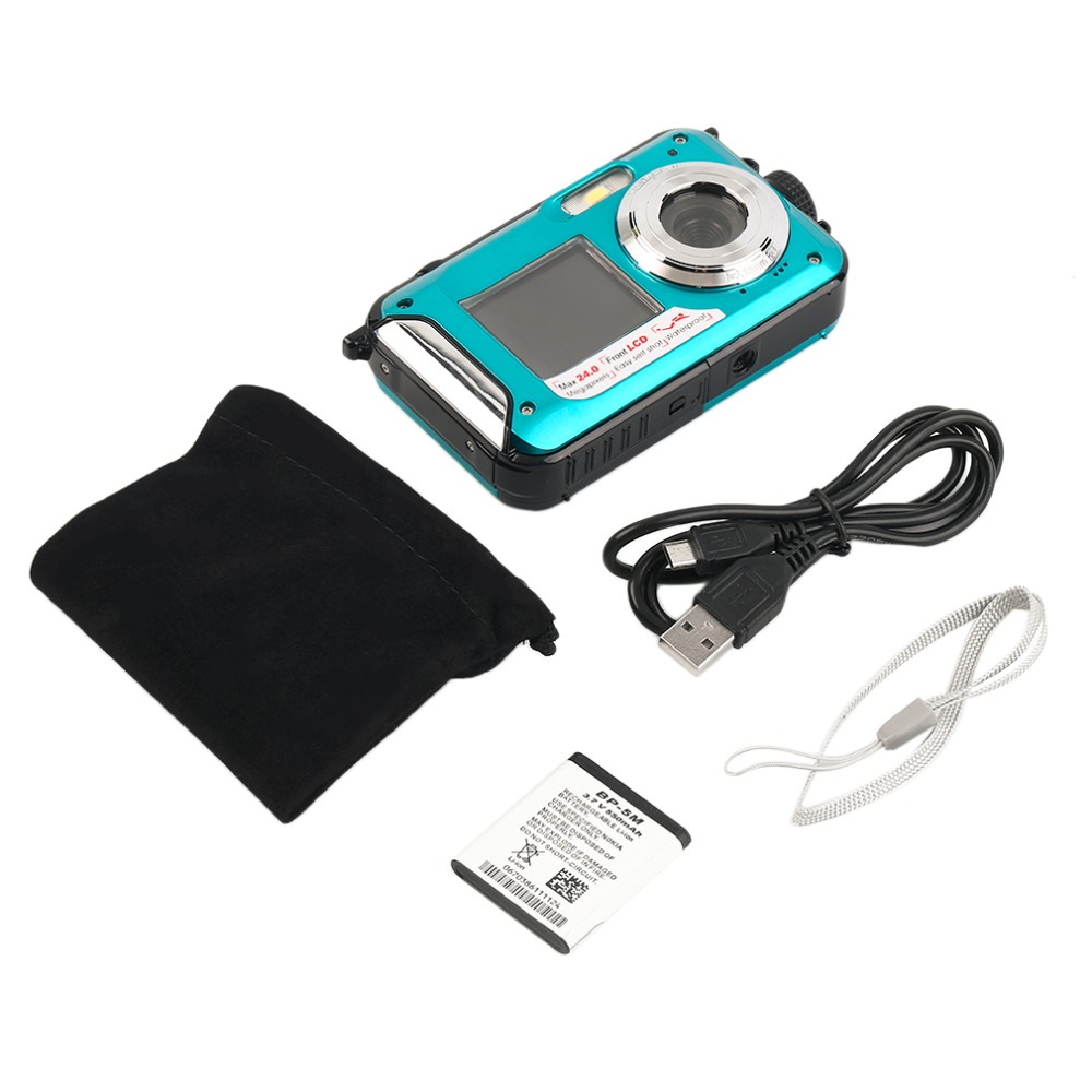 2.7inch TFT Digital Camera Waterproof 24MP MAX 1080P Double Screen ...