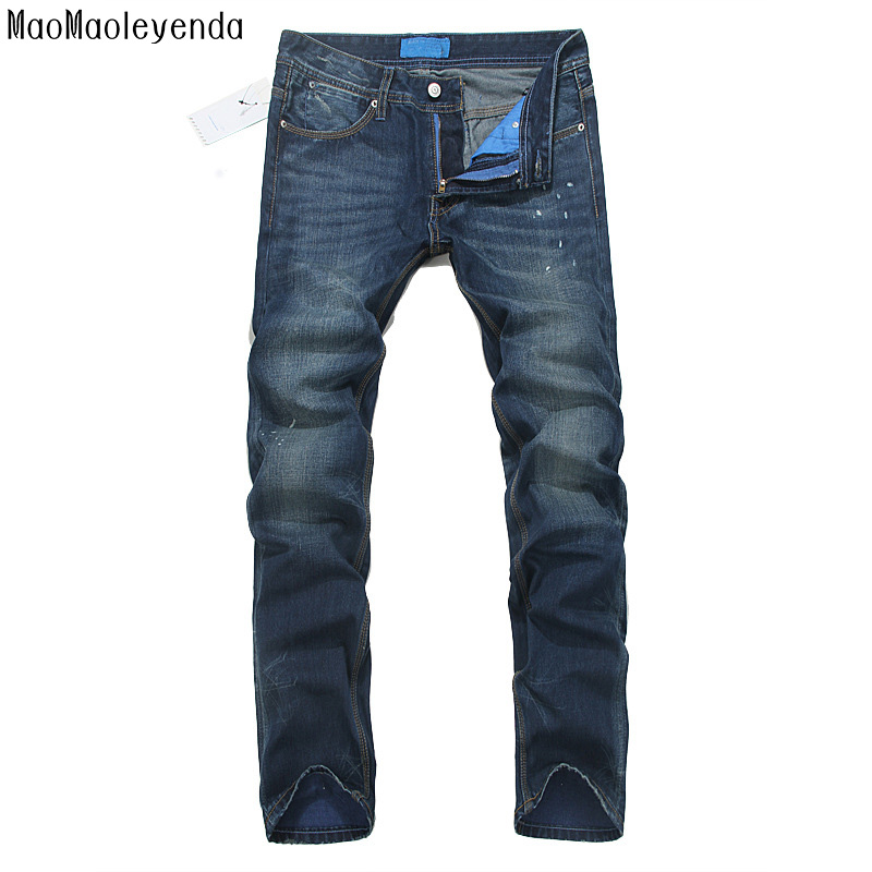 Straight Jeans For Men Long Jeans Casual Fashion Pants Denim Trousers Classic Style High Quality Large Size Brand FIT Gent Life