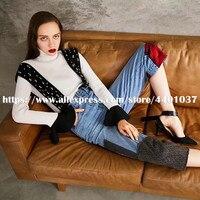 Комбинезон для Для женщин 2018 осень зима комбинезон Для женщин модная джинсовая одежда смешивания комбинезон уличной комбинезоны