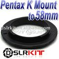 58mm Macro Reverse Adapter Ring for Pentax K PK Mount