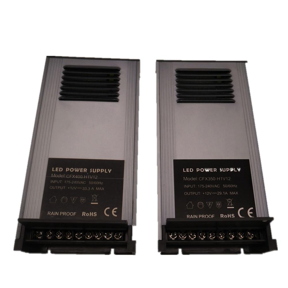New 100% Big Power Rainproof power supply DC 12V 150W/350W/400W IP65 ultra-thin open waterproof switch power supply 175-240V AC lc 12 250w 20 8a rainproof switching power supply silvery grey 175 240v