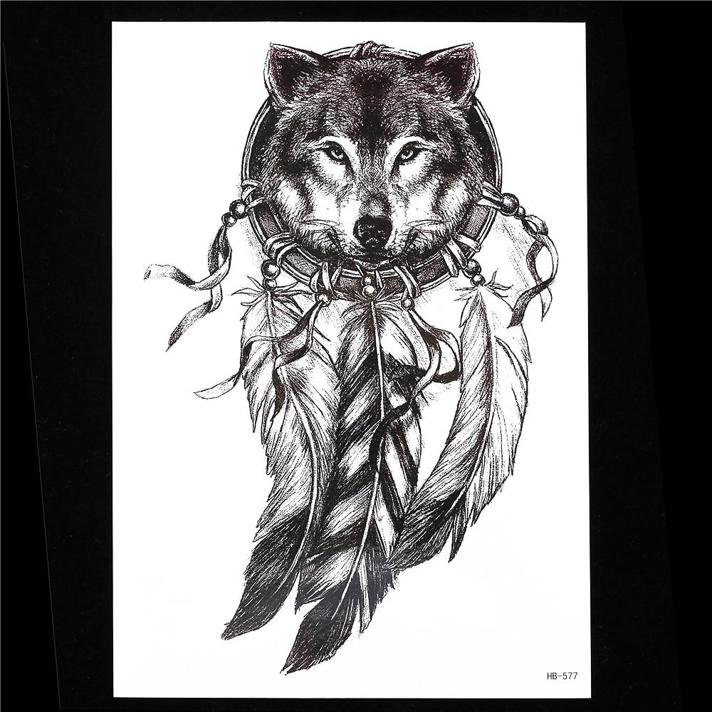 Hot Sale 1pc Sketch Black Tattoo Sticker Women Men 3d Body Art Hb577