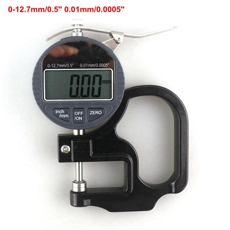 цены 0-12.7mm/0.5'' Digital Thickness Tester Electronic Micrometer Measuring Tools 0.01mm for Paper Film Leather