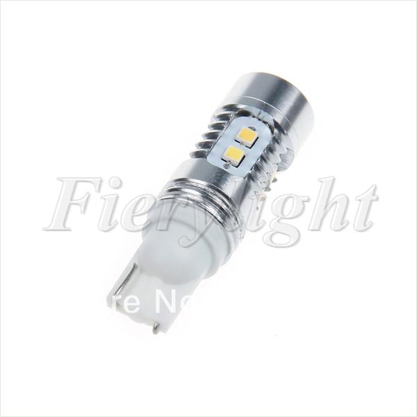 Free shipping 2pcs T10 Samsung SMD 2323 White 10 LED Car Wedge Side Light Bulb Lamp DC 12V 2 x car ultra pure white 8 led 3020 smd t10 w5w bulb wedge side light bulb lamp