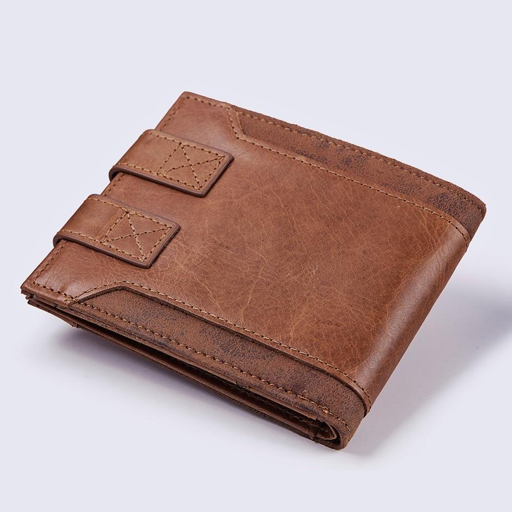 KAVIS Design High Quality Genuine Leather Men Wallet Coin Purse Mens Small Walet Portomonee PORTFOLIO for Male Card Holder Mini