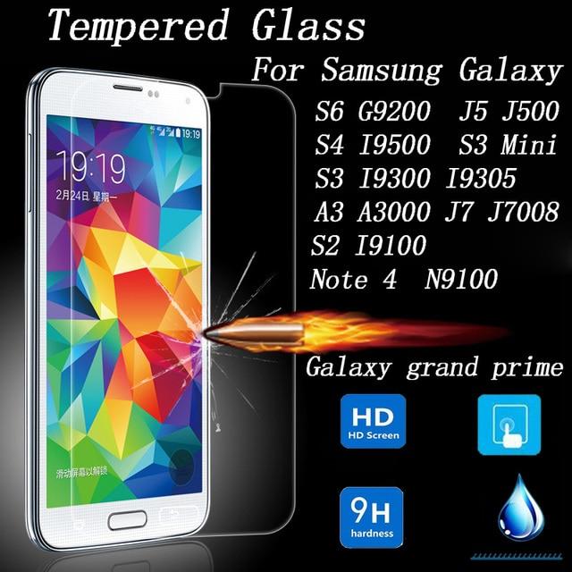 c932d312041 Protector de pantalla de vidrio templado para Samsung Galaxy gran primer S6  J5 S4 S3 Mini