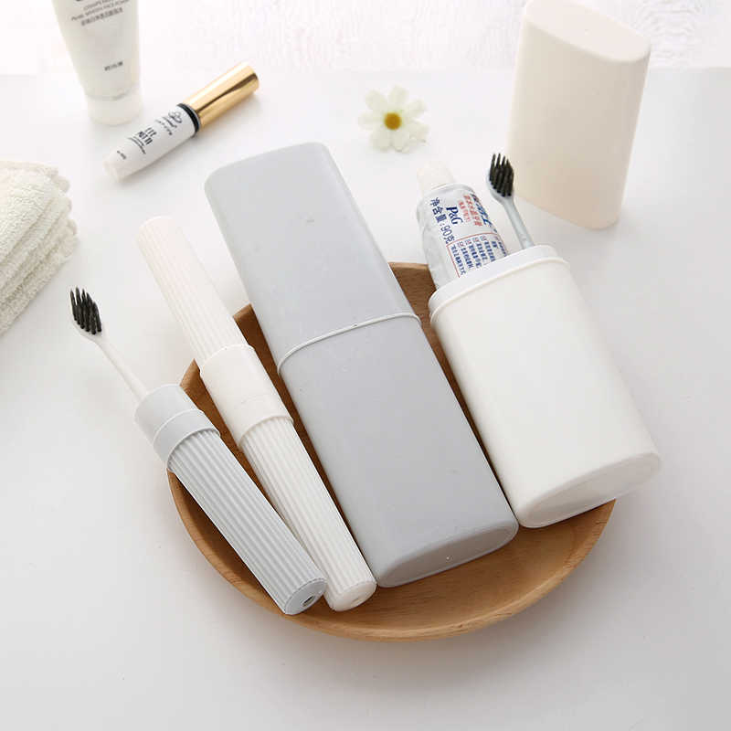New Style Bathroom Toothbrush Toothpaste Storage Box Case Travel Camping Outdoor Portable Toothbrush Case Bathroom Accessories