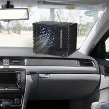 Aire acondicionado portátil para coche, 12V, ajustable, 60W, ventilador de refrigeración, enfriador evaporativo de hielo de agua