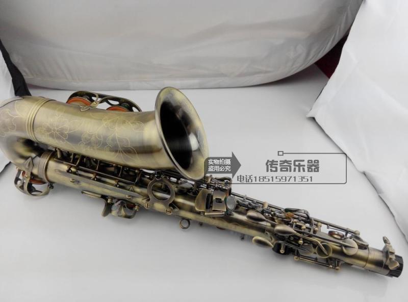High quality alto saxophone / wind Down E tone Green ...
