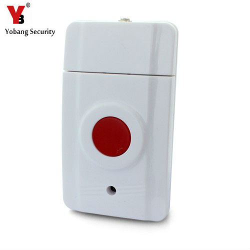 YobangSecurity 433MHZ Wireless Emergency Panic Button SOS Work With Wifi GSM PSTN Home Security Alarm System 2 receivers 60 buzzers wireless restaurant buzzer caller table call calling button waiter pager system