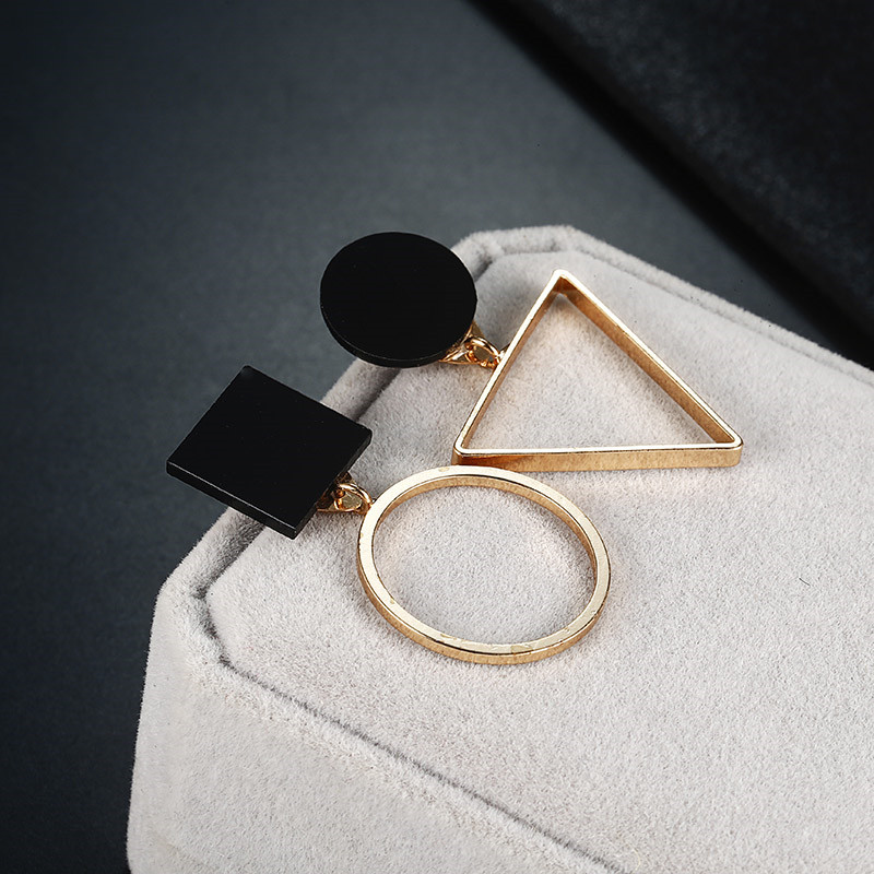 Simple Style Fashion Silver Gold Color Earrings for Women Square Round Geometric Hanging Earrings 18 Female Pendientes Jewelry 12