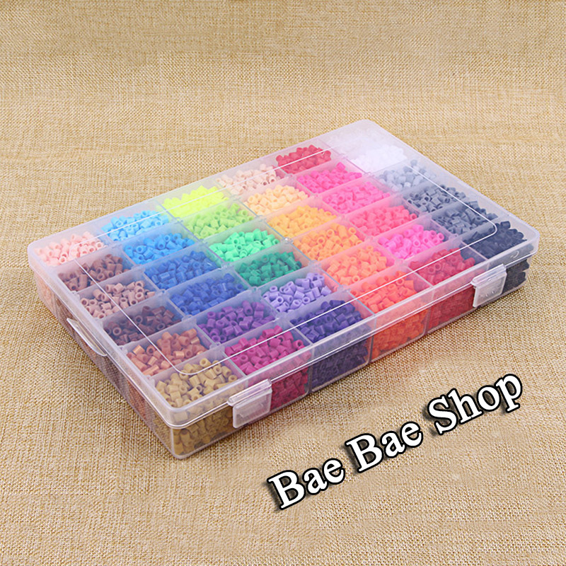 24 Color 13000Pcs Hama Beads 2.6MM Perler Beads DIY Creative Puzzles Tangram Jigsaw Board Kids Educational Toy With Storage Box 72 colors soft perler beads diy creative puzzles hama beads set deluxe suite tangram jigsaw board children kid educational toys