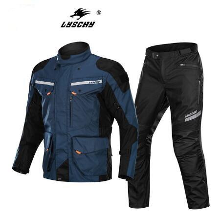 LYSCHY été hiver Detechable imperméable Moto veste respirante maille veste Moto pantalon costume vêtements de protection