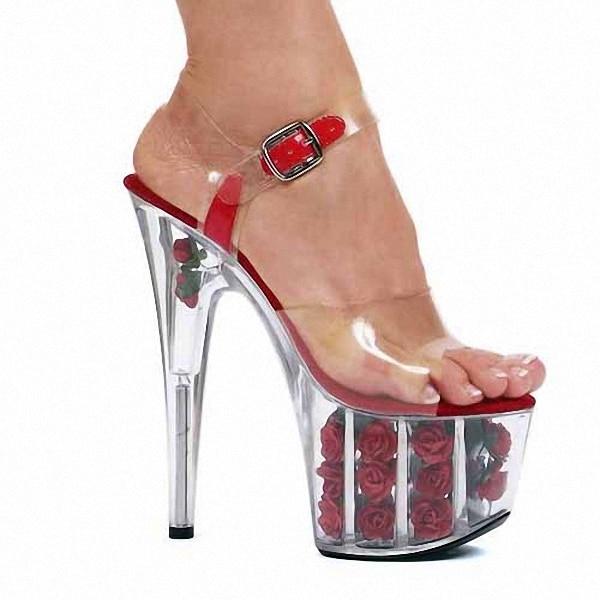 Hot Sale! Sexy 15cm High Heel Slippers Platforms Pole Dance Shoes, Women Sandals, Party / Wedding Shoes classic black plus size 15cm super high heel shoes platform sandals slippers pole dance shoes wedding shoes