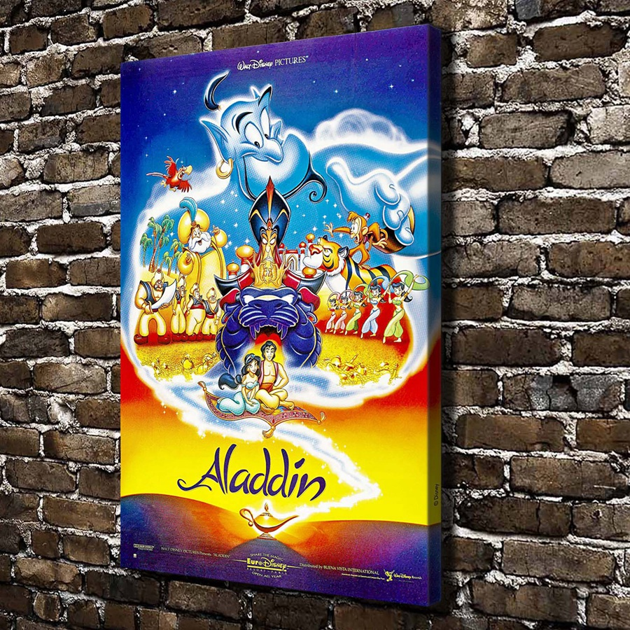 A989 Princess Jasmine Genie Children Cartoon Film,HD Canvas Print Home decoration Living Room bedroom Wall pictures Art painting