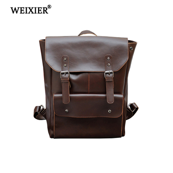 new arrival women backpack 100% genuine leather ladies travel bags preppy style schoolbags for girls knapsack holiday New Arrival Vintage Preppy Style Brand PU Leather Backpack fashion High Quality Workmanship Student Bag schoolbags