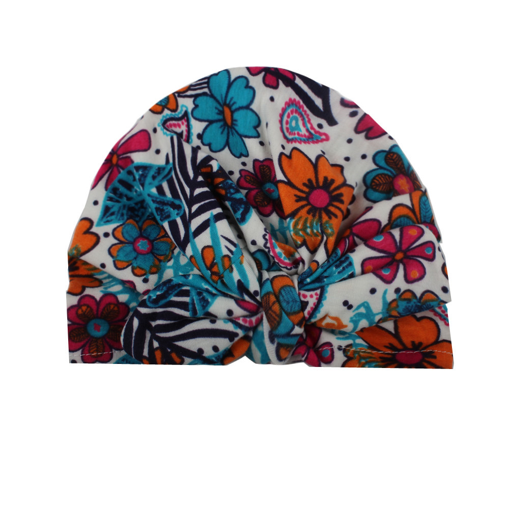 2f33a00ec96 Spring autumn Cotton Baby Print Hat For Girls Boys Newborn Bohemia Style  Baby Hat Accessories newborn photography props-in Hats   Caps from Mother    Kids on ...