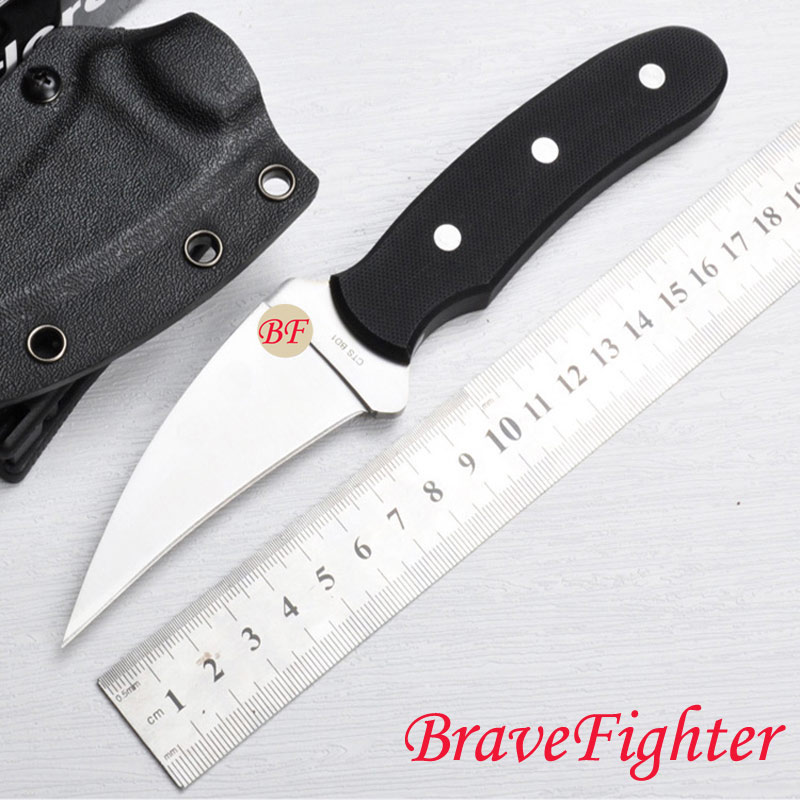 FB34 58HRC 9cr18mov blade Full Tang G10 handle fixed knife outdoor camping hunting tool survival tactical knife EDC utility tool outlife new style professional military tactical multifunction shovel outdoor camping survival folding spade tool equipment