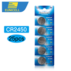 25PCS Coin Battery CR2450 2450 ECR2450 KCR2450 5029LC LM2450 button cell 3V lithium coin battery for watch,XINLU battery