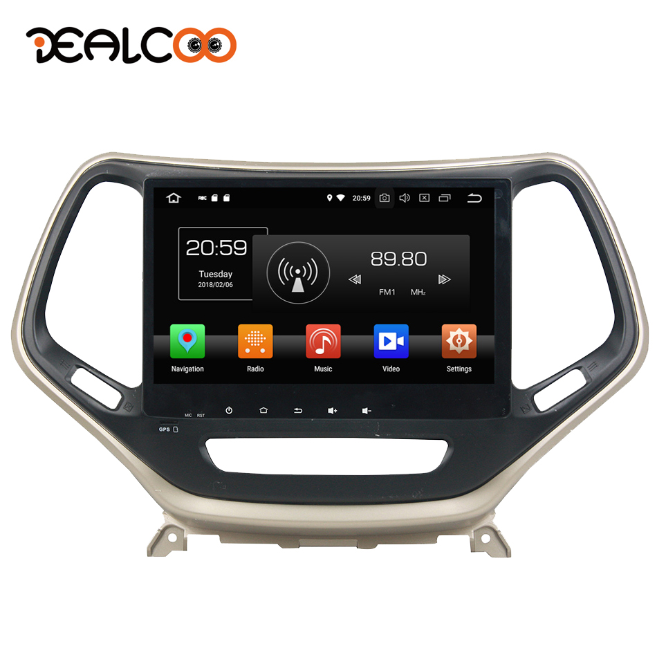 Dealcoo 1din Android autoradio 1 Din Android voiture stéréo lecteur Dvd simple Din Android autoradio pour Jeep Cherokee 2016 2017