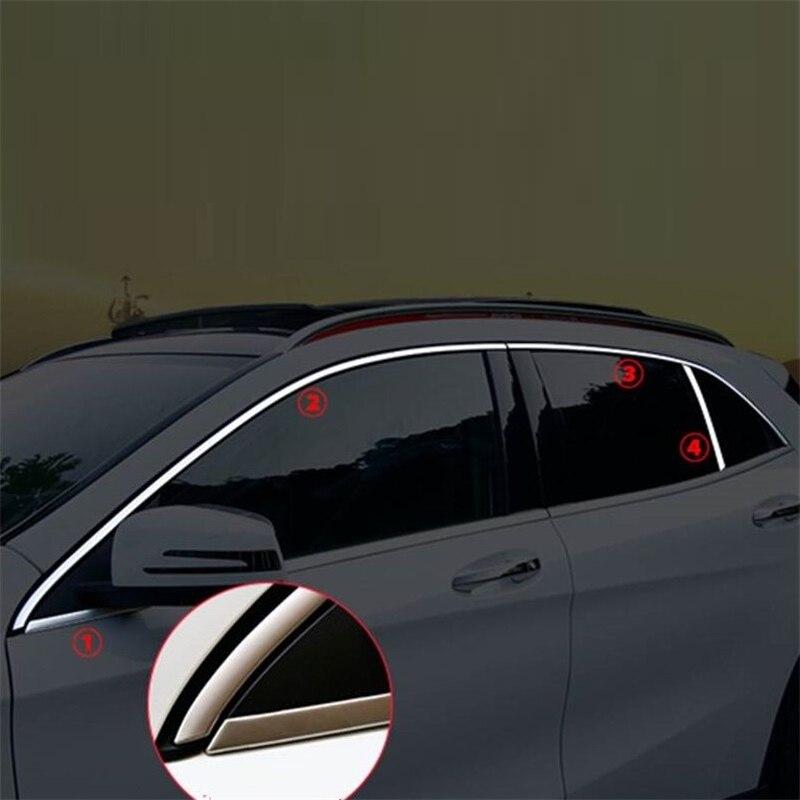 Automobile modifié carrosserie fenêtre Grille extérieur fringant accessoire protecteur couvre 14 15 16 17 18 19 pour Mercedes Benz GLA classe