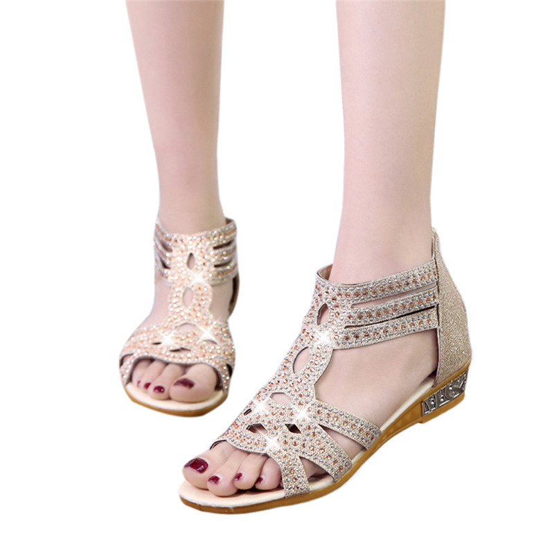 2018 Sandals Women Sandalia Feminina Casual Rome Summer Shoes Fashion Rivet Gladiator Sandals Women Sandalia Mujer 0427