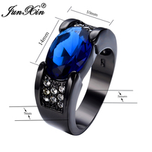 Blue Zircon Stone Rings