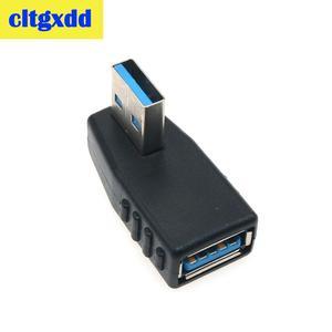 Image 4 - Cltgxdd Haakse USB3.0 Jack Socket L Vorm Adapter Converter USB 3.0 A Male naar EEN Vrouwelijke 90/180 Graden Plug down Connector