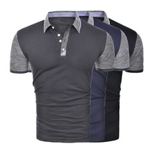 New Men Polo Shirt Business & Casual Solid Male Short Sleeve Breathable man