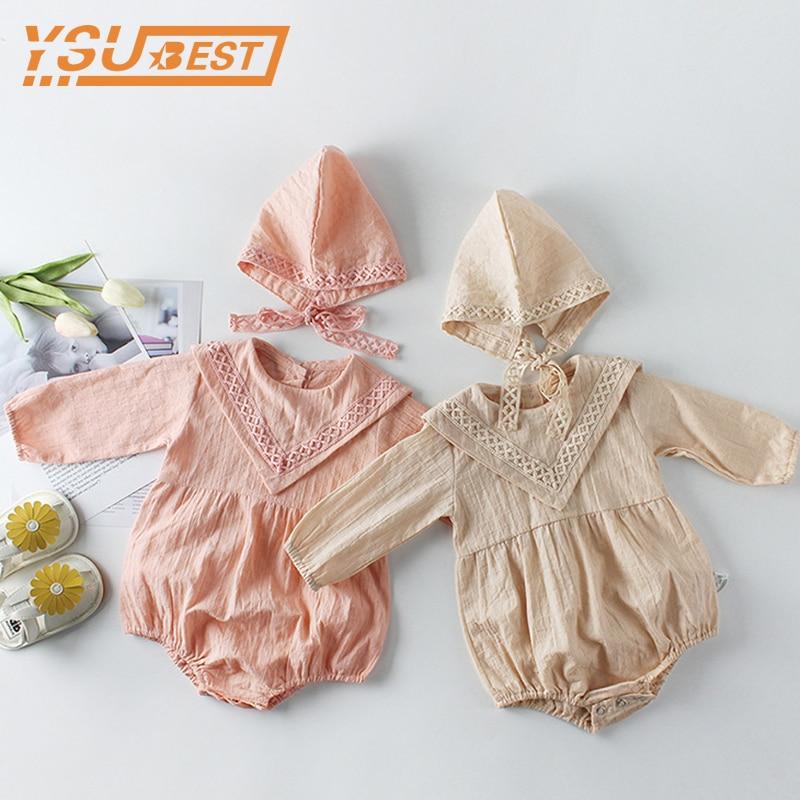 Одежда для новорожденных, для От 0 до 2 лет, девочек и мальчиков, комбинезон с длинными рукавами, детский осенний комбинезон для девочек и мал...
