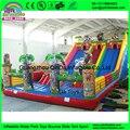Encerado Do PVC Inflável Jumping Castelo Inflável Gigante Mickey-ey Cidade do Divertimento Para Crianças Jogo