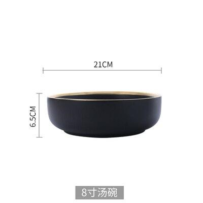 Black big bowl