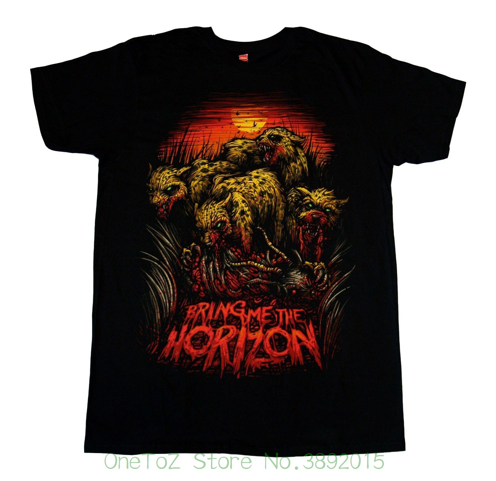 Print Tee Men Short Sleeve Clothing Bring Me The Horizon - Cheetah - T Shirt S , M , L , Xl , 2xl New - Official Merchandise