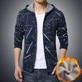 Hot sale 2016 autumn new men's hooded coat brushed color zipper guard coat plus size code 5-XL 4 colors