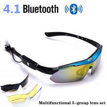 Stereo Bluetooth Smart Glasses Outdoor Sports Headphones Polarized Sunglasses Men Women Driving Call Music Multifunction Goggles