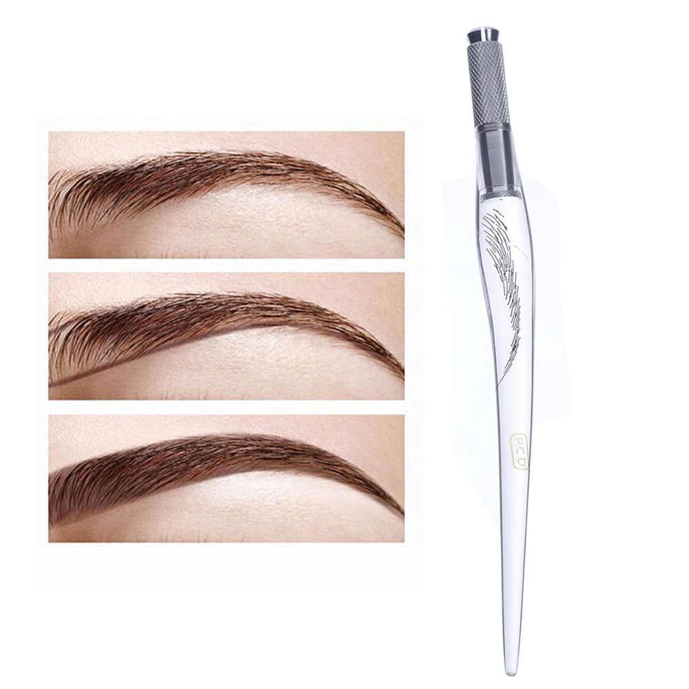 1PC Fashion Eyebrow Permanent Makeup Tattoo Pen Tattoo Machine Eyebrow Microblading Pen Gift 3D Manual Tattoo pen