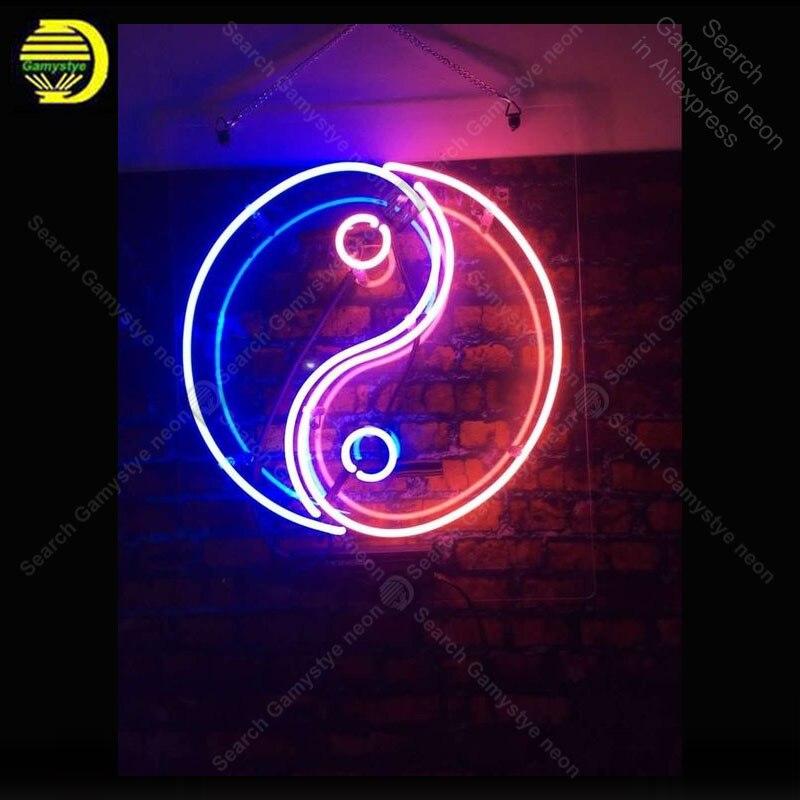 Sinal de néon para o Chinês Yin yang decorar Windower Gameroom Tubos de vidro de Exibição De Cerveja Bar Restaurante luzes de Néon Anunciam Lâmpadas