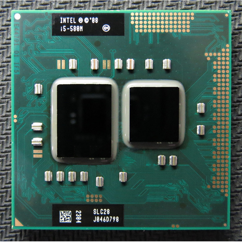 Original INTEL I5 580m I5-580m Dual Core 2.66GHz L3 3M PGA 988 CPU Processor Work With HM55