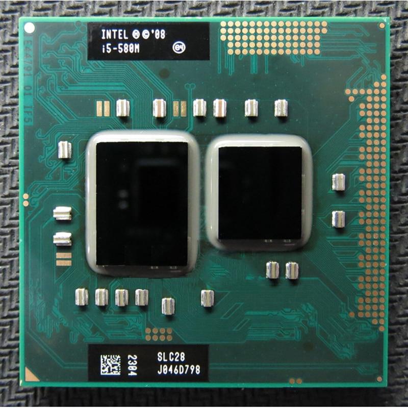 Original INTEL I5 580m I5-580m Dual Core 2,66 GHz L3 3M PGA 988 CPU Prozessor arbeit mit HM55