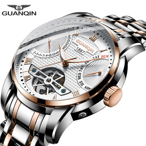 Image 4 - 2019 GUANQIN Watch men Automatic clock men swimming Mechanical men watch top brand luxury waterproof Tourbillon style erkek saat