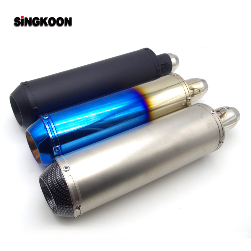 The Newest 51mm Inlet Universal motorcycle <font><b>exhaust</b></font> Pipe scape moto silencieux FOR cb125r bws125 yamaha <font><b>xt660</b></font> z1000 2014 z250sl image