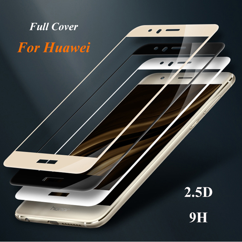 GerTong Tempered Glass Glass For Huawei P8 P9 P20 P10 Lite 2017 Mate 10 Lite Nova3 3i ეკრანის დამცავი Honor 10 9 8 Lite 6X