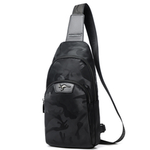 цены New Casual Men Chest Bag Nylon Waterproof Black Men's Bag Sports Travel Bags Camouflage Style Male Shoulder Messenger Bags