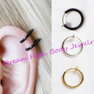 acheter faux nez anneau piercing clip sur l vres hoop anneaux boucles d 39 oreilles. Black Bedroom Furniture Sets. Home Design Ideas