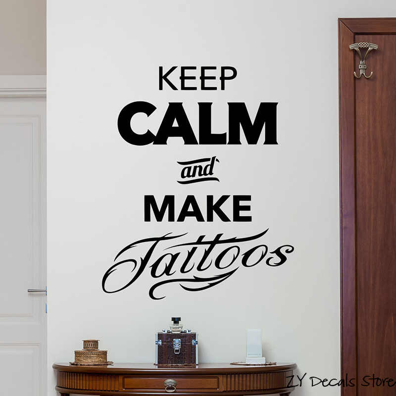 juntop Tattoo Studio Wall Decal Machine Salon Poster Vinyl Sticker Decor Extra/íble Art Mural Wallpaper para Tattoo para Estudio 56x90cm